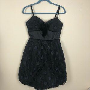 Betsey Johnson Evening black dot cupcake dress